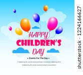 happy children's day vector... | Shutterstock .eps vector #1224166627