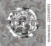 ankle written on a grey... | Shutterstock .eps vector #1224169051