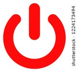 turn off icon on a white... | Shutterstock .eps vector #1224173494