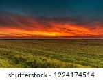 HDR October Sunset - stock photo