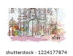 building view with landmark of... | Shutterstock .eps vector #1224177874