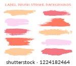 colorful label brush stroke... | Shutterstock .eps vector #1224182464