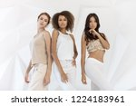 group of friends of different... | Shutterstock . vector #1224183961