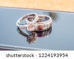 two diamond wedding rings...   Shutterstock . vector #1224193954
