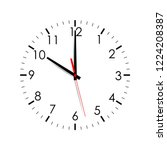 clock face isolated on white... | Shutterstock .eps vector #1224208387