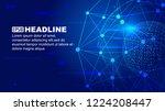 dot line links  digital earth... | Shutterstock .eps vector #1224208447