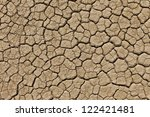 Dry Cracked Earth In A Desert