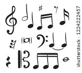 music notes for decoration... | Shutterstock .eps vector #1224222457