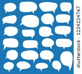 set of speech bubbles. blank... | Shutterstock .eps vector #1224224767