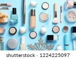 flat lay composition with... | Shutterstock . vector #1224225097