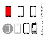 set of smart phone  vector icon ...