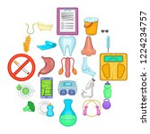personal physician icons set....   Shutterstock .eps vector #1224234757