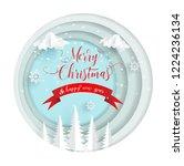paper art designs for winter.... | Shutterstock .eps vector #1224236134