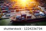 logistics and transportation of ... | Shutterstock . vector #1224236734