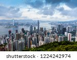 the city skyline of hongkong is ... | Shutterstock . vector #1224242974