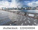 hongkong city skyline  vitoria... | Shutterstock . vector #1224243034