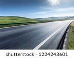 mountain road and beautiful... | Shutterstock . vector #1224243601