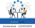 infographic design vector and... | Shutterstock .eps vector #1224252091