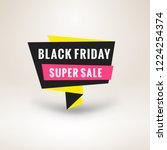 black friday sale sticker.... | Shutterstock .eps vector #1224254374