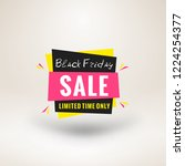 black friday sale sticker.... | Shutterstock .eps vector #1224254377