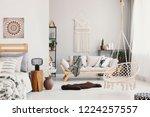 bright living room interior...   Shutterstock . vector #1224257557