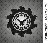 crossed pistols icon inside...   Shutterstock .eps vector #1224259291
