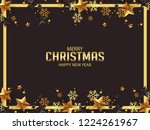 luxury christmas greetings with ... | Shutterstock .eps vector #1224261967