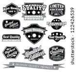 premium quality labels with... | Shutterstock .eps vector #122426539