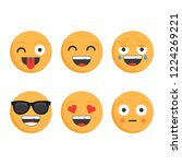 smile icons.set of emoticons.... | Shutterstock .eps vector #1224269221