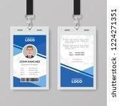 modern blue identity card...   Shutterstock .eps vector #1224271351