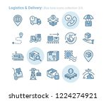 logistics   delivery blue tone... | Shutterstock .eps vector #1224274921