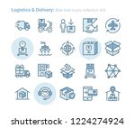 logistics   delivery blue tone...   Shutterstock .eps vector #1224274924