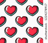 seamless pattern  cute heart.... | Shutterstock .eps vector #1224278917
