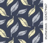 tropical leaves seamless... | Shutterstock .eps vector #1224279667