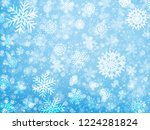 falling snow. christmas and new ... | Shutterstock .eps vector #1224281824