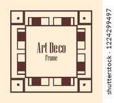 art deco vintage border  frame. ... | Shutterstock .eps vector #1224299497