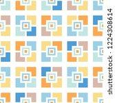 retro mosaics tiles vector... | Shutterstock .eps vector #1224308614