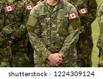 canadian troops. canadian army. ... | Shutterstock . vector #1224309124