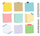 colorful reminder paper notes... | Shutterstock .eps vector #1224323131