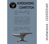 horseshoeing competition... | Shutterstock .eps vector #1224323164