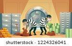 cartoon illustration of bank... | Shutterstock . vector #1224326041