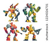 vector cartoon combat robots.... | Shutterstock .eps vector #1224326731