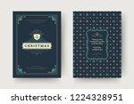 christmas greeting card design... | Shutterstock .eps vector #1224328951