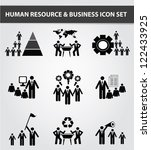 management and human resource... | Shutterstock .eps vector #122433925