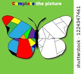 complete the picture. ... | Shutterstock .eps vector #1224347461