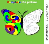 complete the picture. ... | Shutterstock .eps vector #1224347464