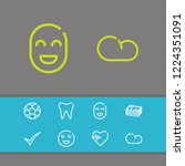 cloud icon with smile face ...