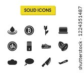 universal icons set with knife  ... | Shutterstock .eps vector #1224351487