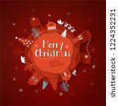 merry christmas paper cut... | Shutterstock .eps vector #1224352231