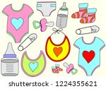 set baby icon | Shutterstock .eps vector #1224355621
